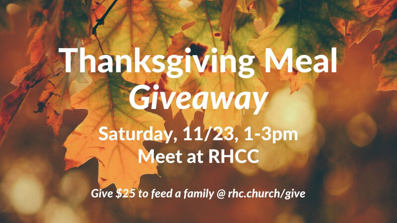 Thanksgiving Meal Giveaway