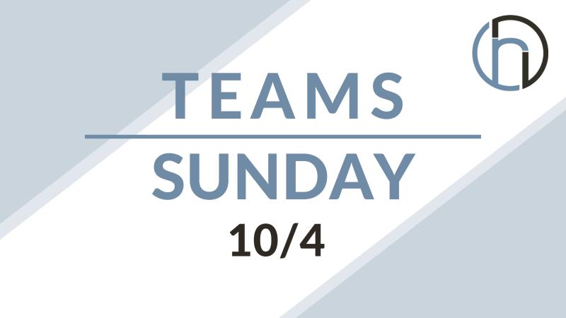 Teams Sunday